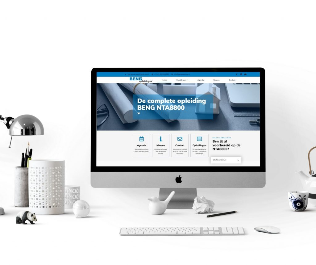 Voorbeeld van een WordPress website door Li-Z