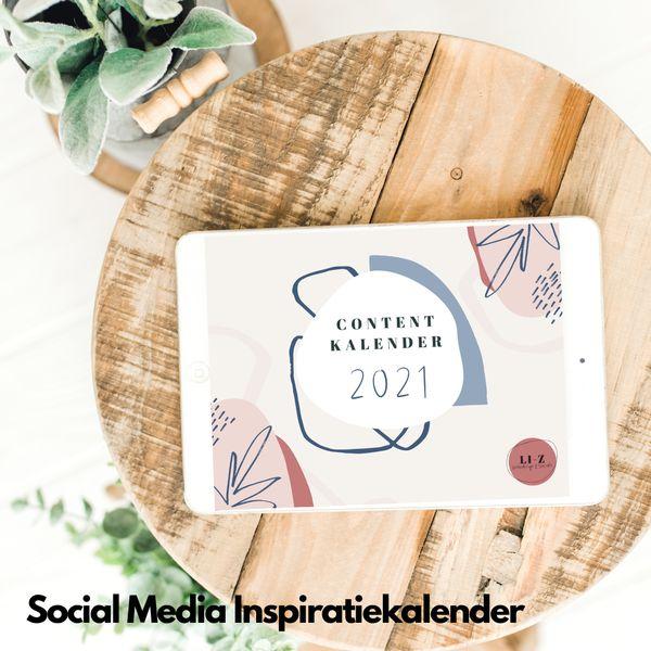 Social media inspiratie kalender 2021